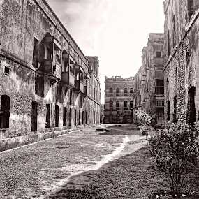 Old by Qamrul Hassan Shajal - Buildings & Architecture Public & Historical ( landlord, old, b&w, buildings, historical, architecture )