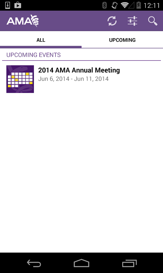 AMA Events - screenshot