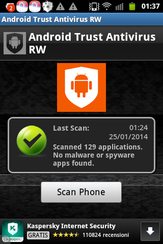 Android Trust Antivirus RW - screenshot