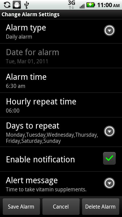 Alarm Clock/Personal Assistant - screenshot