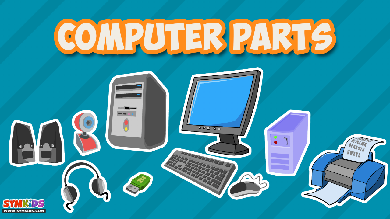 Parts of computer for kids