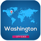 Washington Guide Map & Hotels icon
