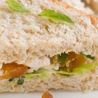 Curried Chicken And Apricot Sarnies