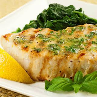 Grilled Swordfish with Lemon-Basil Butter.