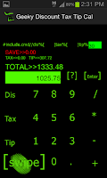 Screenshot of Geeky Discount Tax Tip Cal