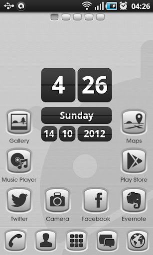 Grey Button Go Launcher Theme v1.0.1