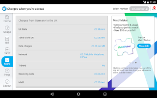 Screenshot of Tesco Mobile