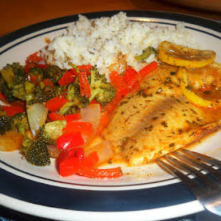 Baked Tilapia And Veggie Foil Packets.