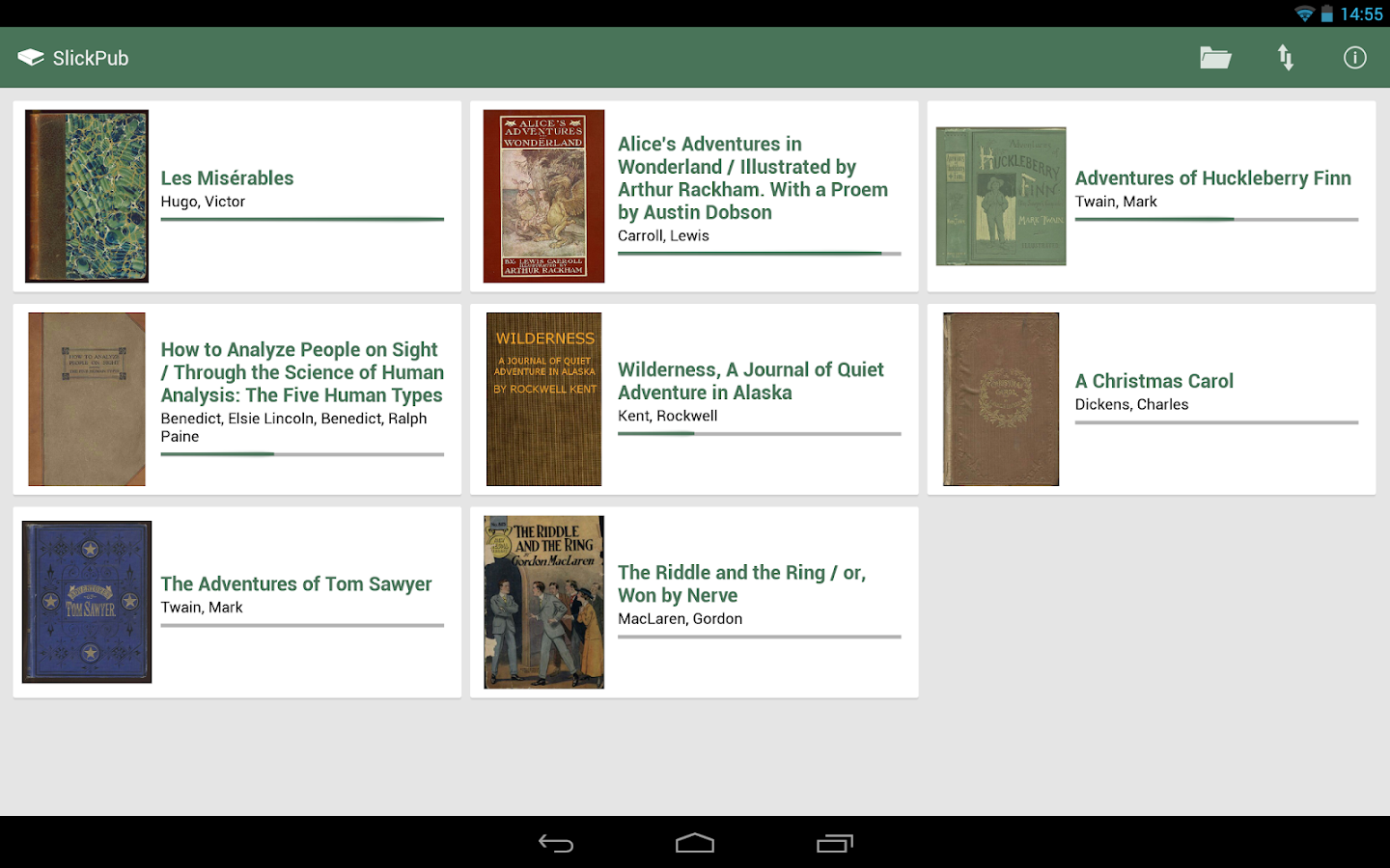 SlickPub - EPUB Reader (-50%) - screenshot