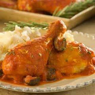 Braised Mediterranean Chicken With Olives.