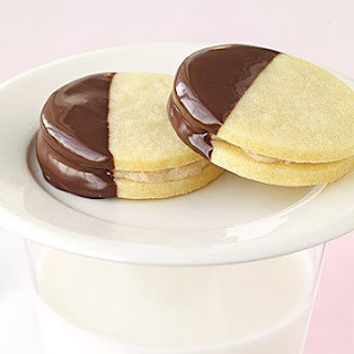 Butter Cookie Sandwiches with Chestnut Cream.