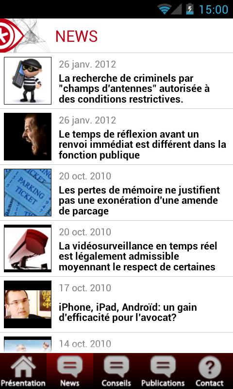 iAvocat - screenshot
