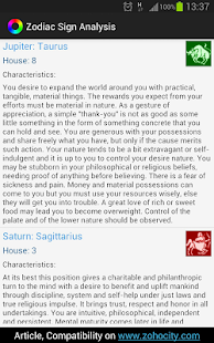 Zodiac Sign Analysis- screenshot thumbnail