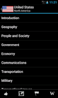 Screenshot of World Factbook Pro