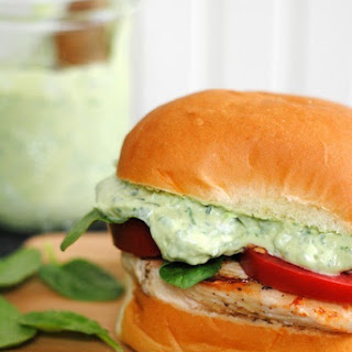 Green Goddess Chicken Sandwiches.