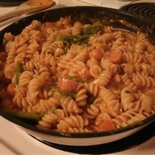 Creamy Pasta and Vegetables.