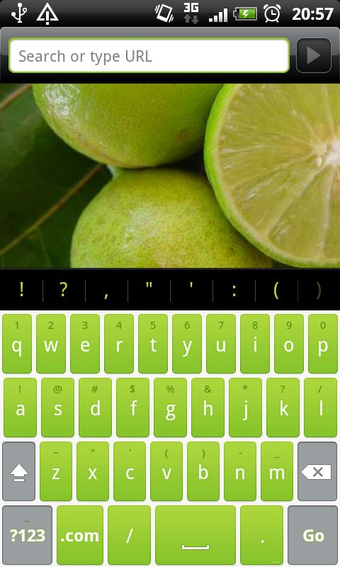Lime Pro - HD Keyboard Theme- screenshot