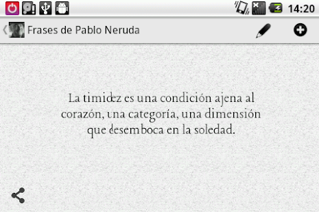 Phrases from Neruda (Spanish) - screenshot thumbnail