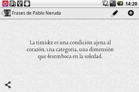 Phrases from Neruda (Spanish) - screenshot