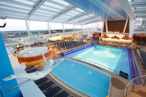 Quantum-of-the-Seas-The-pool - The main pool aboard Quantum of the Seas.