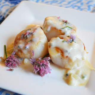 Chive Blossom Parmesan Cheese Sauce {Recipe Redux}.