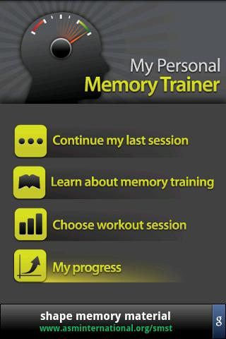 Memory Trainer- screenshot