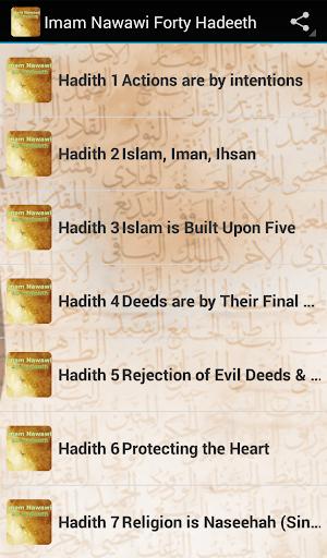 Imam Nawawi Forty Hadith