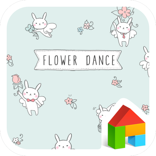 個人化必備App|flower dance dodol theme LOGO-綠色工廠好玩App
