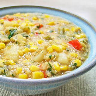 Quinoa Corn Chowder Main Dish Recipe & Video