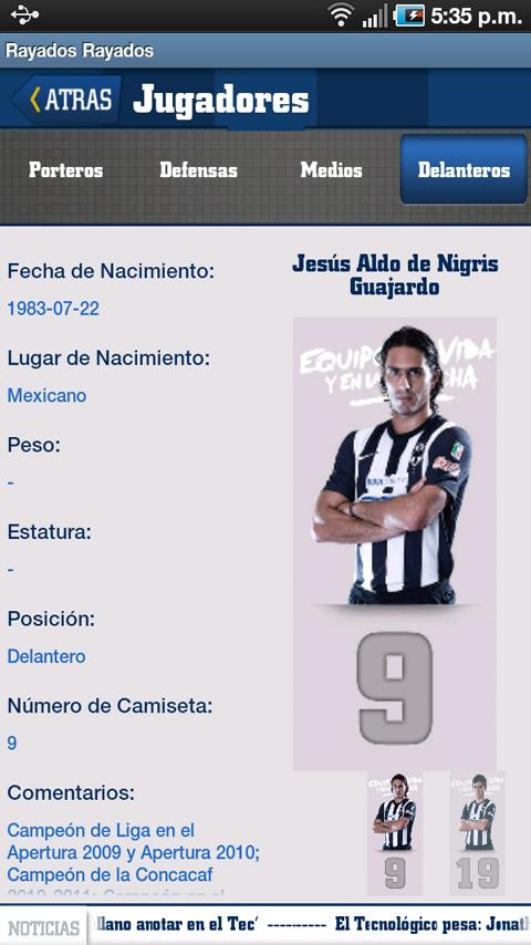 Rayados - screenshot