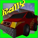 Rally racing, speed & death icon