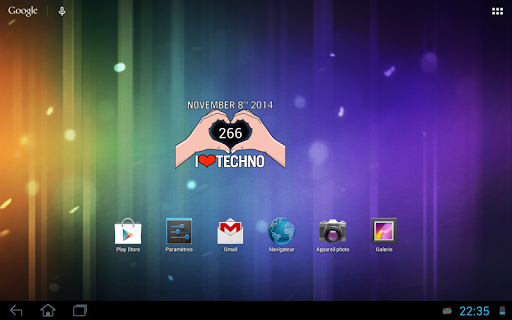 【免費個人化App】I Love Techno - Widget (2014)-APP點子