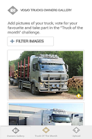 Screenshot of Volvo Trucks Owners' gallery