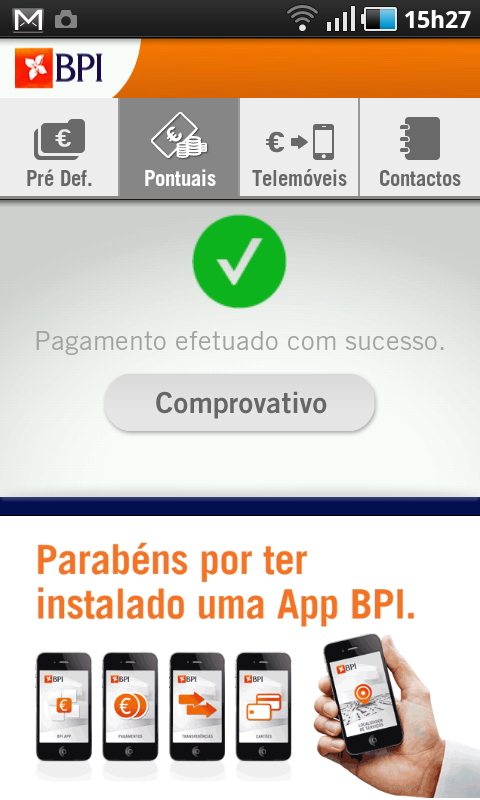 BPI Pagamentos - screenshot
