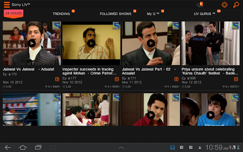 Sony LIV - screenshot thumbnail