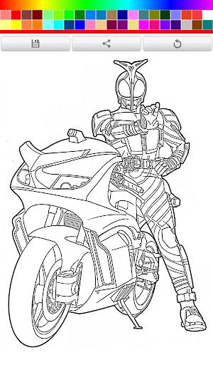 Coloring Kamen Rider