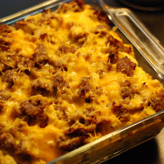 Breakfast Sausage Casserole Bake Recipe