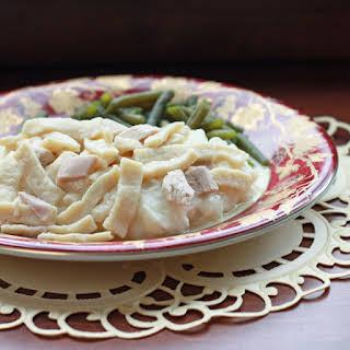 Homemade Chicken Noodles.