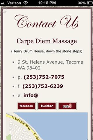 Carpe Diem Massage - screenshot