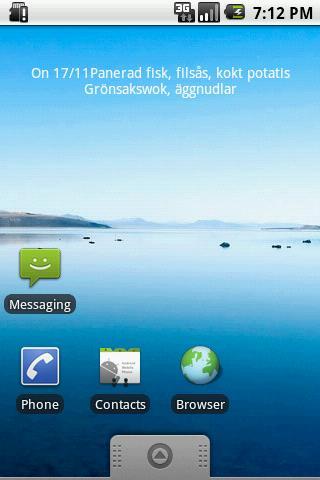 Skvaderns matsedel- screenshot