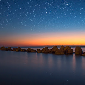 Floating Rocks 2 by Ashraf Ahmed Habib - Landscapes Waterscapes