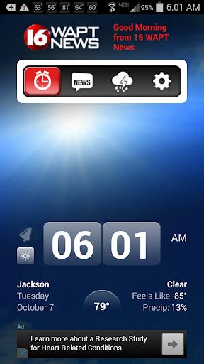 Alarm Clock 16 WAPT News