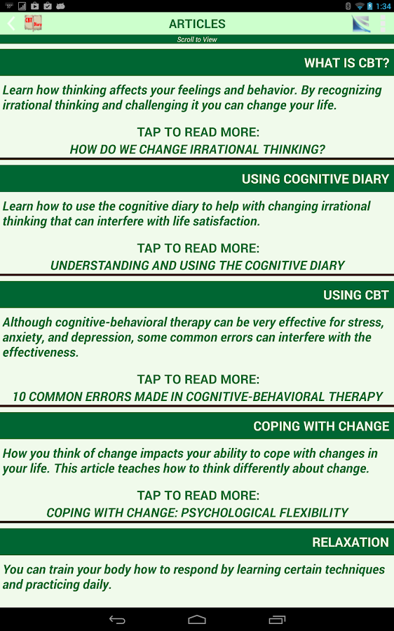 Cognitive Diary CBT Self-Help- screenshot