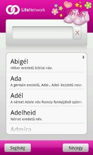Babanév Kereső Lány - screenshot thumbnail