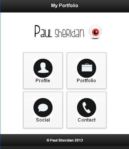 Paul Sheridan ePortfolio