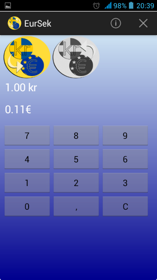 Currency converter sek