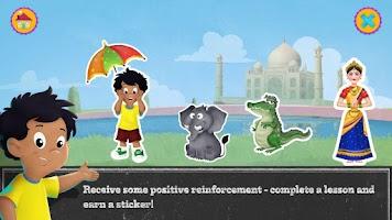 Screenshot of Alfie's Hindi Alphabet