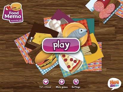 Food Memo Match for Kids FREE