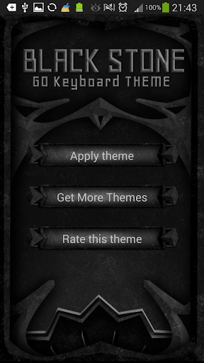GO Keyboard Black Stone Theme