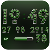 Digi Clock Widget Green Diamon